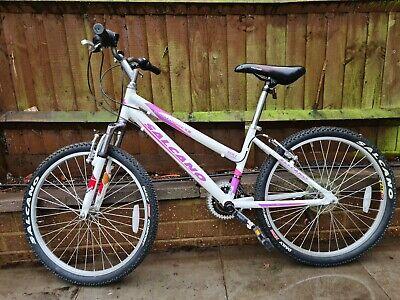 Pink and White Salcano Mountaineer 4.0 Girl's Bike - Female Step Through Frame