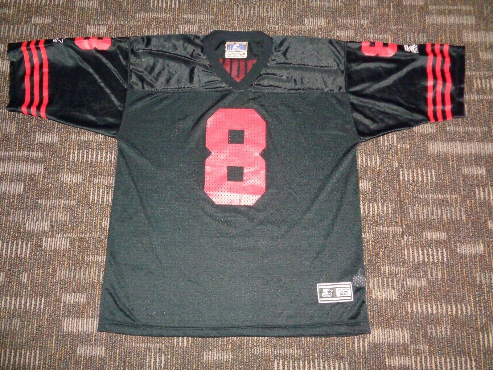 PRISTINE STEVE YOUNG SAN FRANCISCO 49ER S NINERS STARTER BLACK NFL GAME JERSEY  - $99.99