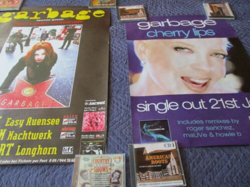 GARBAGE POSTERS (LOT OF 2) CHERRY LIPS + SPECIAL GUEST FUN LOVIN CRIMINALS #8