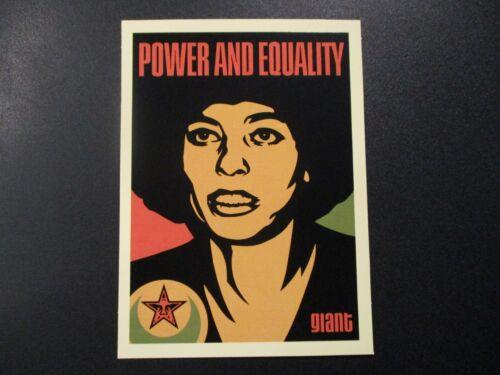 "SHEPARD FAIREY Obey Giant POWER angela davis 30th Sticker 6.5"" art fr poster 257"
