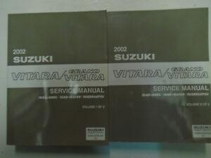 Suzuki grand vitara repair manual ebay 2002 suzuki grand vitara sq416 sq420 sq625 service repair shop manual set 2 vol fandeluxe Gallery