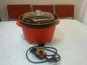 MONIER LARGE 1970S CROCK POT. ORANGE COLOUR Torquay Fraser Coast Preview