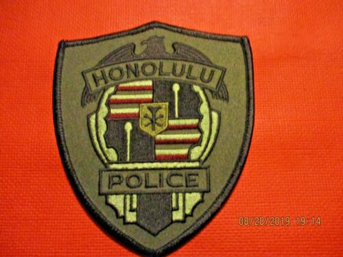 "Collectible Hawaii Police Patch,Honolulu ""Camo"",New"