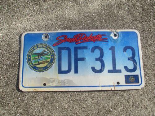 South Dakota state seal license plate  #  DF 313