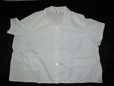 Best Medical S/S Smock 2 Bottom Pockets Tunic Scrub Top White Size 5X