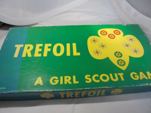 Trefoil, a Girl Scout Game, vintage, pieces unattached, FREE SHIPPING