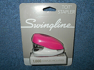 Swingline Tot Stapler Pink White 12 Sheet Capacity Built In Remover W Staples