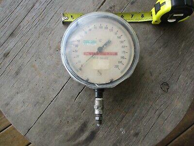 Large 6 34 Ashcroft Gauge 0-200 Psi Steampunk Read Description