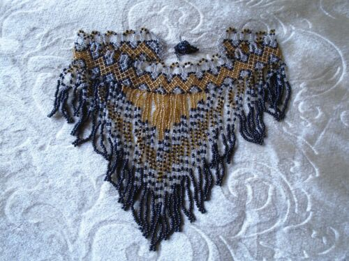 Vintage 1920's Beaded Collar Necklace -
