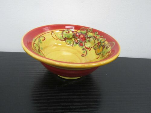 Vallauris Small footed Bowl  Artist Signed