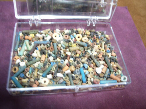 More than a Thousand 2500 Year old Ancient Egyptian Faience Mummy Beads