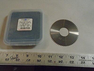 Machinist Mill Robb Jack Solid Carbide Saw Blade 3.0 Od 1 Id 60 Th .045
