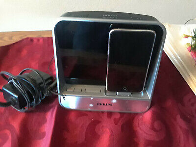 Philips Alarm Clock Radio AJ5300D/37 & IPOD 32 GB bothTested/Working