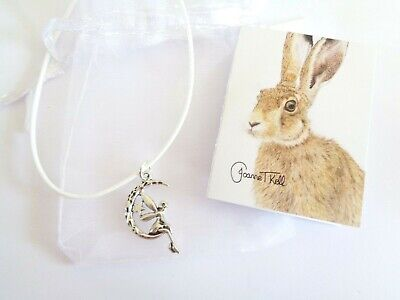 'SWINGING FAIRY' PENDANT / NECKLACE- GIFT PACKAGED BY WILDLIFE ARTIST WITH CARD (Artist Fairy Necklace)