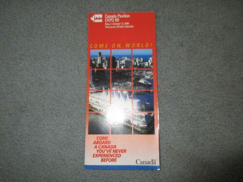 Vintage CANADA PAVILION EXPO 86 Vancouver Brochure