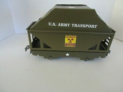"Custom Army Marx 6"" Radioactive Material Transportation Car Toy Train O Gauge"