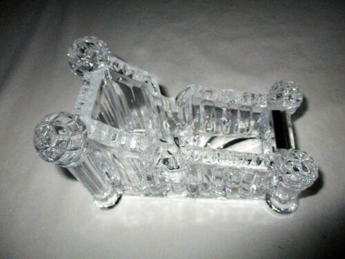 Lead Crystal Tape Dispenser Clear Heavy 24% Lead Cut Desktop Crystal Clear