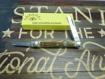 Eye Brand 2 Blade Congress Stag Handle Pocket Knife 54DS
