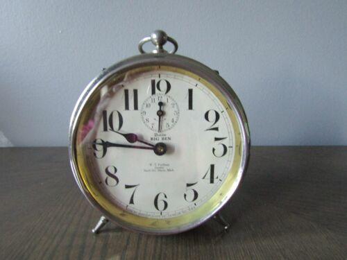 Antique Westclox Big Ben Peg Leg Alarm Clock Patent Date Feb. 10, 1914