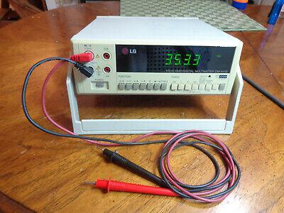 Lg True Rms Digital Multimeter Dm-441b W Probes Working Perfect