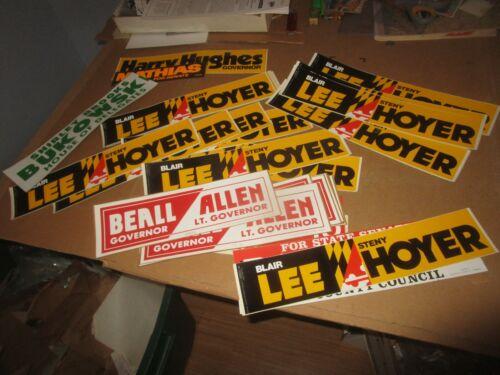 Huge Political Bumper Sticker Lot Maryland Baltimore (69) Heavy Duplication