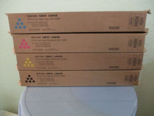Genuine Ricoh Savin Lanier IM C3500 Color Toner Set of All 4 Colors KYMC New!