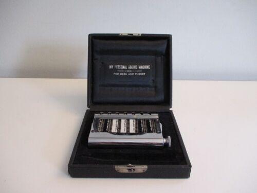 "Gem ""My Personal Adding Machine"" Vintage Desk Top Calculator in Box"