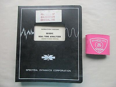 Spectral Dynamics Sd301c Real Time Analyzer Instruction Manual