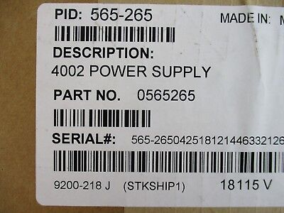New Simplex 565-265 - 4002 Cpu Power Supply Assembly Module