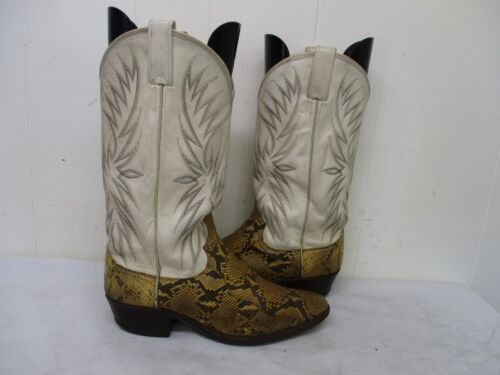 DAN, POST, Snakeskin, Leather, Cowboy, Boots, Mens, Size, 8.5, D, Style, S6560, USA