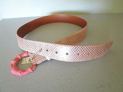 RALPH LAUREN COLLECTION PURPLE LABEL Pink (Champagne) Snakeskin Belt Size M (Lauren Pink Collection)