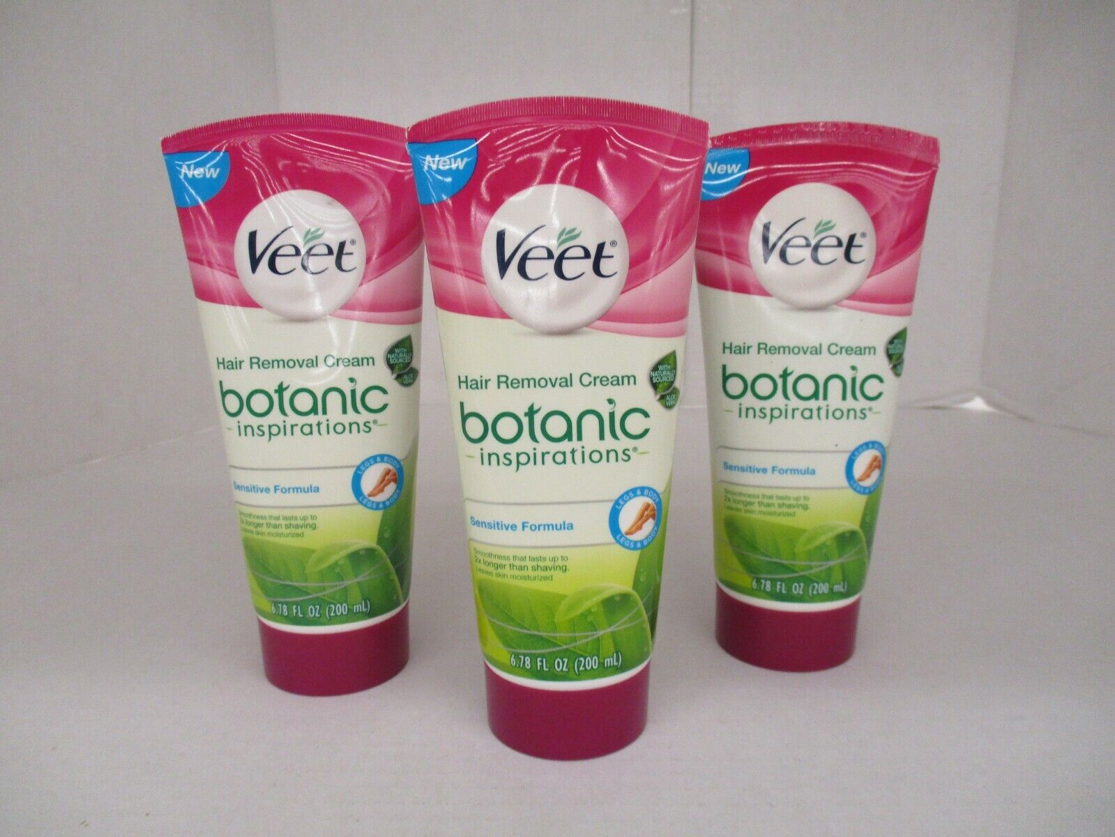 Veet Botanic Inspirations Gel Cream, 6.78 oz., for Legs & Bo