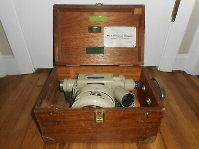 Vintage Western Germany Fennel Kassel Engineer Survey Transit Scope 68234 Case