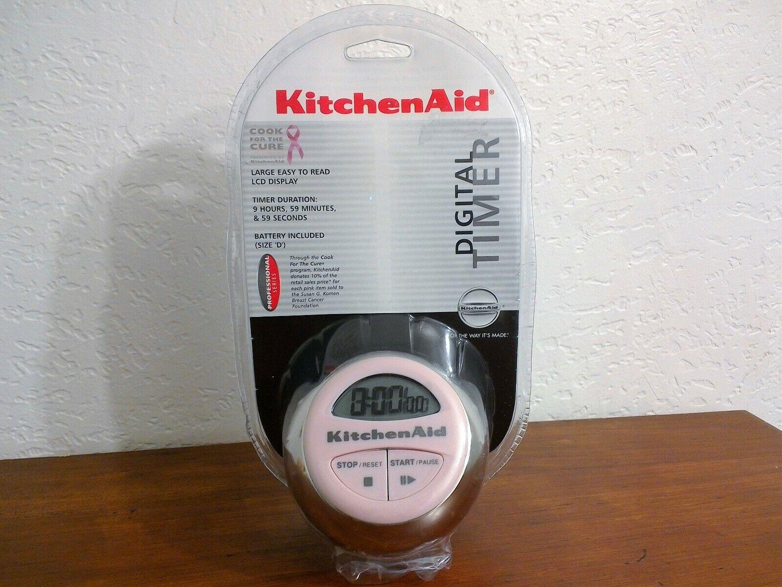 Brand New Sealed KitchenAid Classic Digital Timer In Pink Di