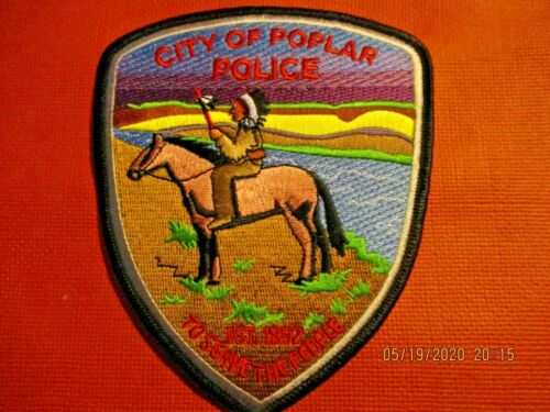Collectible Montana Police Patch,Poplar,New,