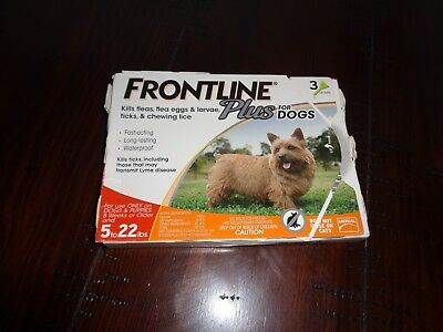 Frontline Plus Flea and Tick Control For Dogs And Puppies Up to 5 to 22lbs New