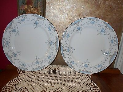 Set 2 IMPERIAL China SEVILLE Signed W Dalton Gold DINNER Plates New Old Stock