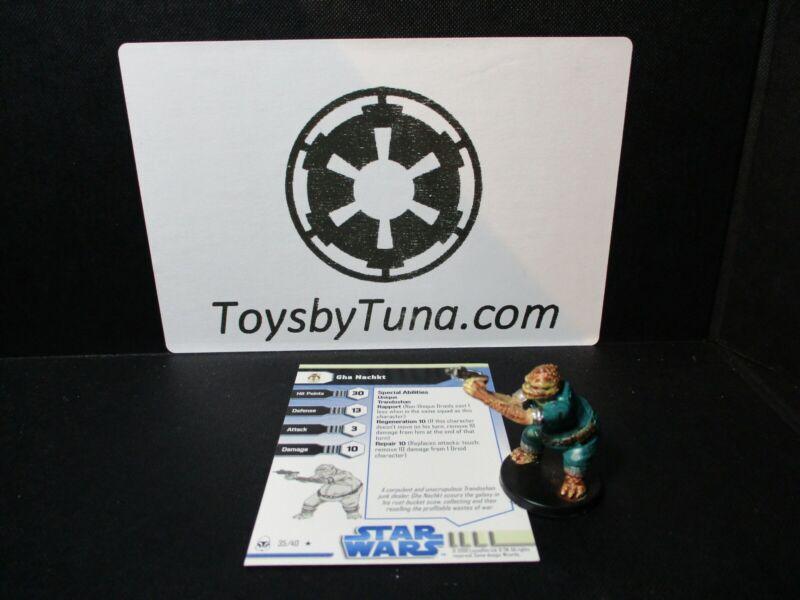 Star Wars Miniatures Gha Nachkt Clone Wars CW w/ Card mini RPG Legion