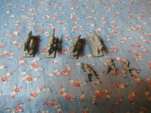 "Ral Partha 1983 or 8 Figures 4 Wolves 3 Riders  ?? Dungeons Dragons Wolf 5/8"" H"