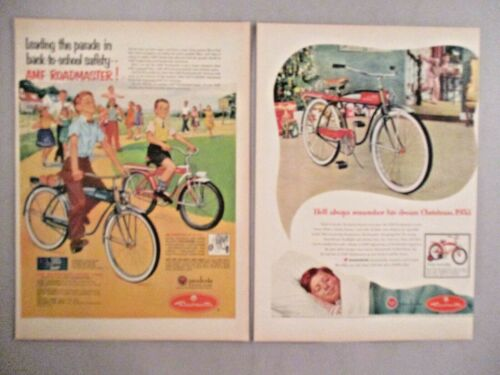 Roadmaster Bicycle PRINT AD - 1953 ~~ LOT of 2 Ads