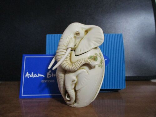Harmony Kingdom Artist Adam Binder Trunk Call Elephant UK Made Mouse Ver. RARE