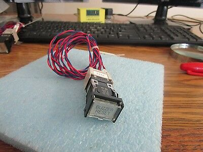 Omron Model A3sj-803 Buzzer Reset Switch With A3sj-4103 Push Button Connect
