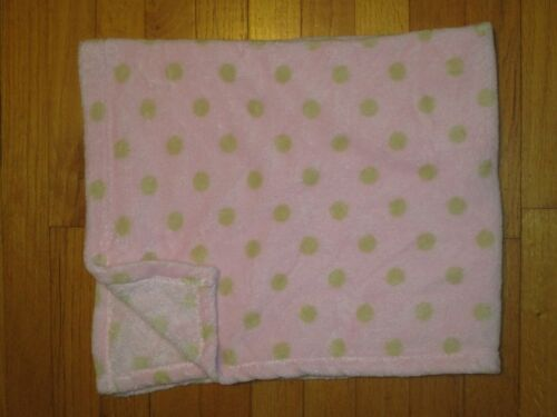 Beansprout Pink with Tan Polka Dot Baby Blanket