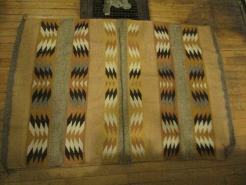 Vintage MidCentury Modern Navajo Eye Dazzler Hand Woven Wool Rug Blanket Textile