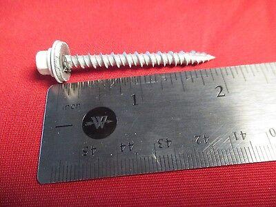 10 X 2 Bone White Metal Roofingsiding Screws