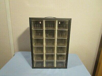 Vintage Akro-mils 18 Drawer Organizer Storage Parts Cabinet Metal