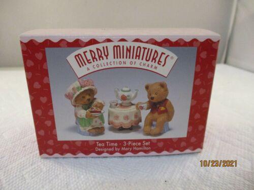 1996 TEA TIME MERRY MINIATURES 3 PIECE SET