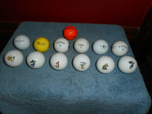 Disney Character Pinnacle Golf Balls (6) plus CALLAWAY TOP FLITE XL 13 Balls