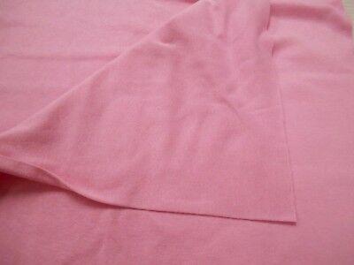 (Knit fabric 100% cotton 1x1 rib stretch cuffs collars bands pink 1 yd x 34