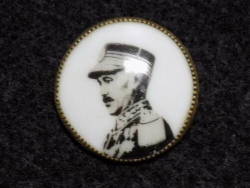 Original Chinese Pre-WWII Chiang Kai-Shek Porcelain Photo Badge